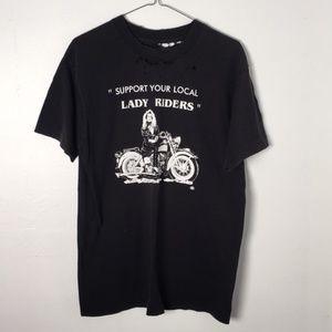 vintage lady riders harley tee